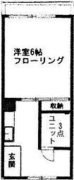 東京都世田谷区桜丘2の賃貸マンションの間取り