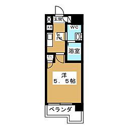ボーラ東大宮 5階1Kの間取り