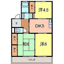 湫マンション[4階]の間取り