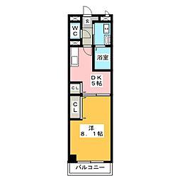 ポラールシュテルン[1階]の間取り