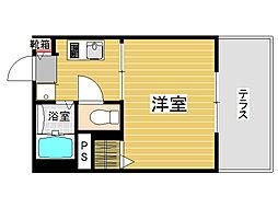 福岡県福岡市城南区七隈4丁目の賃貸アパートの間取り
