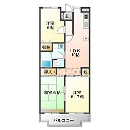 カーサエミネンス[2階]の間取り