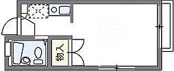 レオパレス東大路ハシモト[2階]の間取り