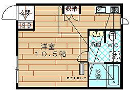ドエル梅香V[2階]の間取り