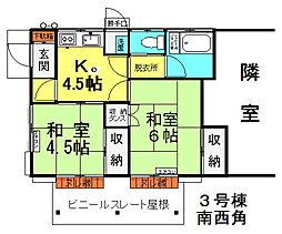 [一戸建] 東京都八王子市大楽寺町 の賃貸【東京都/八王子市】の間取り