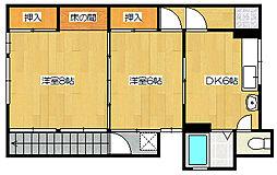 サイトウアパート[2階号室]の間取り