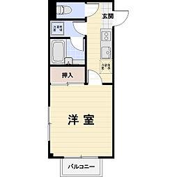 滋賀県米原市下多良2丁目の賃貸アパートの間取り
