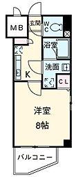 東京都北区中十条4丁目の賃貸マンションの間取り