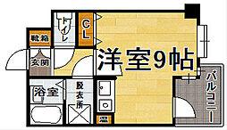 福岡県福岡市博多区竹下1丁目の賃貸マンションの間取り