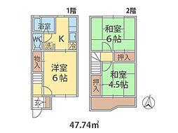 埼玉県三郷市栄の賃貸アパートの間取り