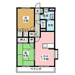 エスポワールM[2階]の間取り