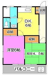 東京都練馬区南大泉5丁目の賃貸アパートの間取り