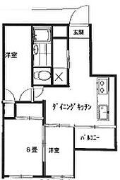 ダイヤパレス三河島[1階]の間取り