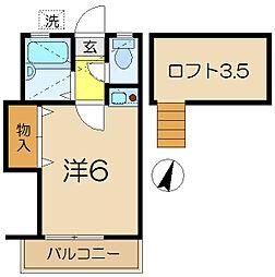 グリーンホーム3[2階]の間取り