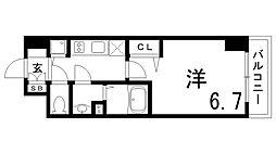 JR東海道・山陽本線 兵庫駅 徒歩4分の賃貸マンション 6階1Kの間取り