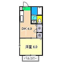 ルピナスKII[2階]の間取り