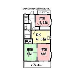 M'S HOUSE akanabe[8階]の間取り