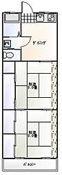 横山第3ハイツ[203号室]の間取り
