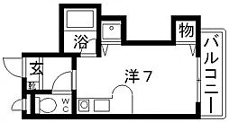 ラ・シャンブル松原[203号室号室]の間取り