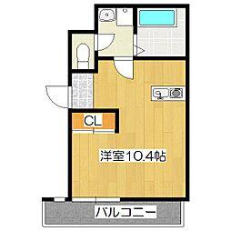 シモムラビル[3階]の間取り