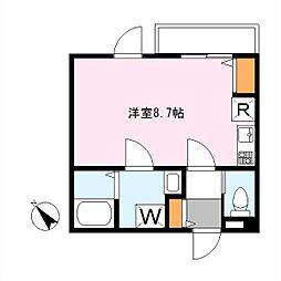 東京都渋谷区東2丁目の賃貸アパートの間取り