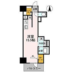 大阪府堺市堺区北花田口町3丁の賃貸マンションの間取り