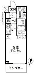 東京メトロ半蔵門線 清澄白河駅 徒歩10分の賃貸マンション 2階ワンルームの間取り