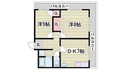 山田マンション[4階]の間取り
