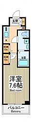 東京都府中市緑町2丁目の賃貸マンションの間取り