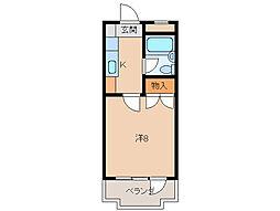 コーポ三沢II[1階]の間取り