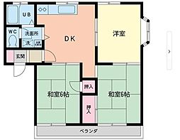 アパートメントヒロ2階Fの間取り画像
