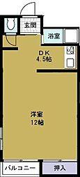 港晴ビル[4階]の間取り