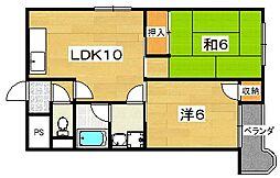 ロータリーマンション村野本町A棟[301号室]の間取り