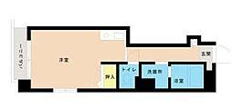 神奈川県相模原市中央区清新1丁目の賃貸マンションの間取り