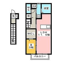 キーマ[1階]の間取り