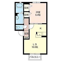 カーサ・エクセルE[2階]の間取り