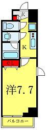 JR埼京線 板橋駅 徒歩5分の賃貸マンション 5階1Kの間取り