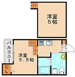 福岡県福岡市博多区相生町3丁目の賃貸アパートの間取り