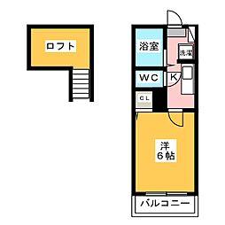 シーハイム[1階]の間取り