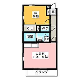 フィールドコート クレア[2階]の間取り