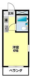 愛知県豊田市元城町1丁目の賃貸マンションの間取り