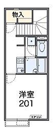 東京都国立市富士見台1丁目の賃貸アパートの間取り