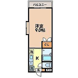 ガーデンコート古川[2階]の間取り