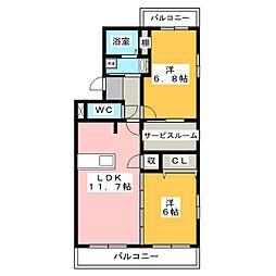 スマートYOU[2階]の間取り