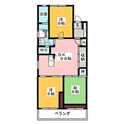 オーシャン61[4階]の間取り