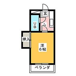 コーポ杉江[2階]の間取り
