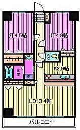 ブルールイイヅカ[6階]の間取り