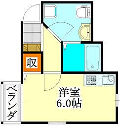 プレシャスアース飯山満[203号室]の間取り