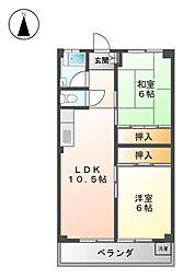 白竜ビル[4階]の間取り
