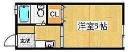 ハイツリベールA棟[1階]の間取り
